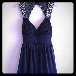 Blue Chiffon, babydoll pretty cute studded dress